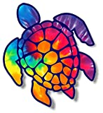 Vinyl Junkie Graphics 3 inch Sea Turtle Sticker for Laptops CupsTumblers Cars and Trucks Any Smooth Surface (Rainbow tie dye)