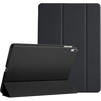 """ProCase iPad Air (3rd Gen) 10.5"""" 2019 / iPad Pro 10.5"""" 2017 Case, Ultra Slim Lightweight Stand Smart Case Shell with Translucent Frosted Back Cover for Apple iPad Air (3rd Gen) 10.5"""" 2019 –Black"""
