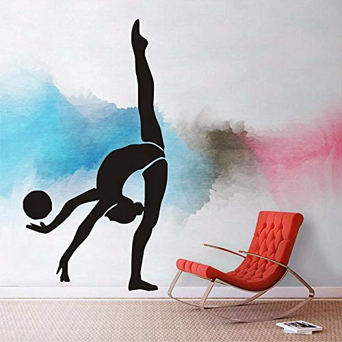 Classic Creative Gymnast Wall Sports Gymnastics Vinyl Ballroom Fitness Club Decoration | Room Living Room Bedroom Stairs Removable Wall Stickers