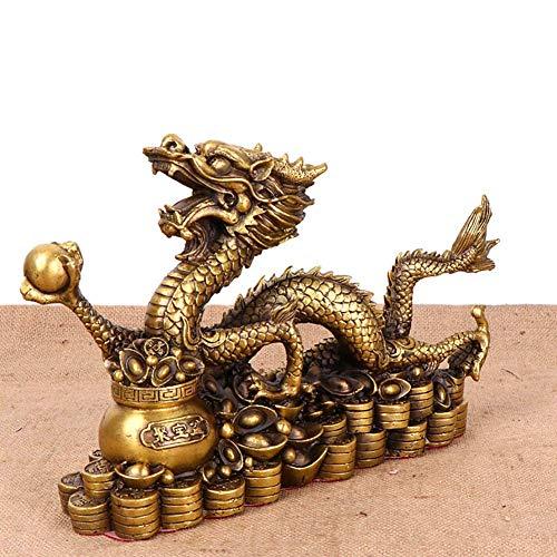 LIUSHI Dragon Wealth Lucky Statuette,Feng Shui Animals...