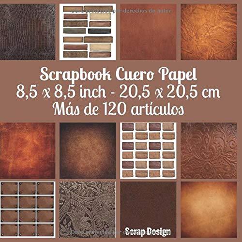 Scrapbook cuero papel 8,5 x 8,5 inch - 20,5 x 20,5 cm Mas de 120 articulos