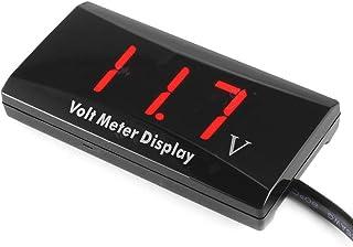 KKmoon Voltmeter Digital Voltage Gauge mit LED Anzeigefeld Messgerät für DC 12V Auto Motorrad