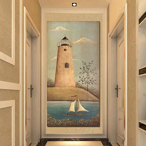 UIOLK Navegación Arte escandinavo Carteles e Impresiones Minimalistas Pintura Decorativa para Sala de Estar Pintura de Pared