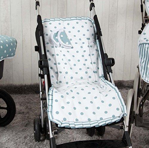Babyline Carrusel - Colchoneta ligera para silla de paseo, color verde