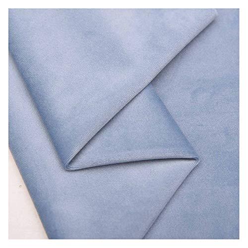 Tela de terciopelo azul-gris tela de seda de tela artesanal de terciopelo prensado azul de mezclilla, utilizada para ropa, cama y decoración del hogar, tamaño: 1.46M * 1M(Color:gris azulado)