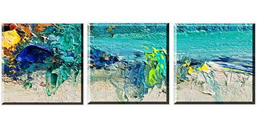 Cuadro en Lienzo Abstracto Turquesa 1 Pieza 30x30 cm Decoracion de la Pared Facil Colgar Dormitorio Salon Sala de Estar Wall Art