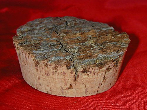 """All Natural Bark Top Cork - Multiple Size Choice - 3 1/2"""""""
