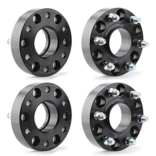"KSP 6X5.5 Wheel Spacers for Silverado Sierra,1.5""(38mm)Real Forged Spacers with 78.1mm Hub Bore M14x1.5 Studs fit for Tahoe Avalanche Express Suburban Sierra Yukon"