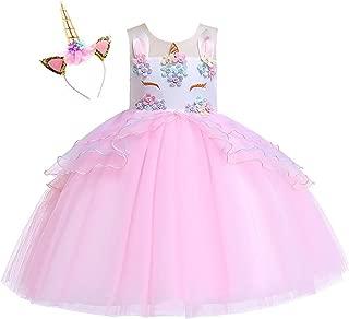 Kokowaii Fancy Girls Unicorn Dress up Fancy Costume for Pageant Party
