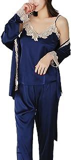 [ニーマンバイ] レース刺繍 ルームウェア 3点セット 抜け感 部屋着 パジャマ キャミソール レディース M~XL