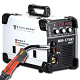 STAHLWERK MIG 175 ST IGBT - MIG MAG inert <span class='highlight'>gas</span> inverter welder with 175 Ampere, suitable for Flux Cored Wire, with MMA ARC Stick, white, 7 years warranty