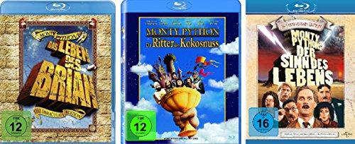 Monty Python Klassiker Collection - 3 Kultfilme (Das Leben des Brian, Die Ritter der Kokosnuss, Der Sinn des Lebens) im Set - Deutsche Originalware [3 Blu-rays]
