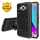 Dingo for Samsung Galaxy Grand Prime Case/Galaxy J2 Prime/Galaxy Grand Prime Plus Phone Case w/Kickstand[Hybrid Dual Layer][Shockproof Bumper] Heavy Duty Protection Cover,Black