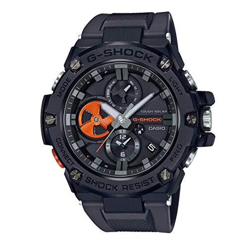 G-SHOCK カシオ ジーショック スマートウォッチ G-STEEL ジースチール メタル GST-B100B-1A4 Bluetooth ブルートゥース ソーラー ブラック 黒 オレンジ アナログ クロノグラフ スマホリンク 同型:GST-B100B-1A4JF [並行輸入品]