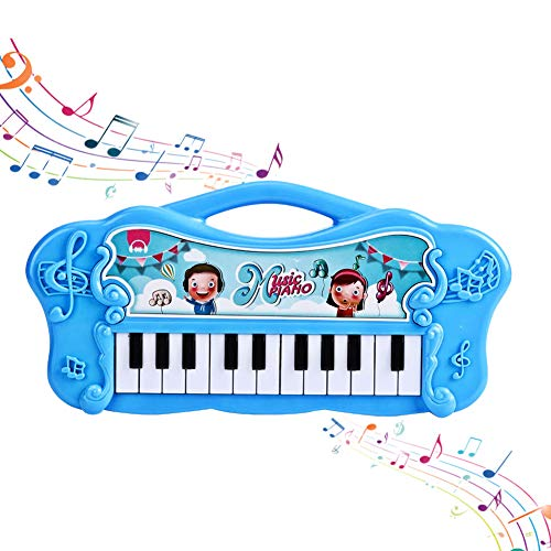 YOUTHINK Klavier Keyboard Spielzeug für Kinder, Baby Musik Spielzeug Kinder Geschenke Geburtstag Frühpädagogische Klaviertastatur für 1-5-Jährige(Blau)