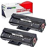 Kingway Tóner compatible con Samsung MLT-D101S D101S para ML-2160 ML-2165 ML-2165W ML-2168 SCX-3405W SCX-3405F SCX-3405 SCX-3405FW SCX-3400 SF 760 SF760P (2 negro)