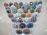 Juego de 20 tiradores vintage de cerámica, con...