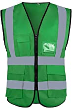 Lichtgewicht ademende veiligheidsvest, hoge zichtbaarheid reflecterende vest rits zak, werkkleding administratieve vest-10...
