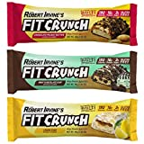 FITCRUNCH Snack Size Protein Bars | Designed by Robert Irvine | World's Only 6-Layer Baked Bar | Just 3g of Sugar & Soft Cake Core (18 Snack Size Bars, Variety Pack)