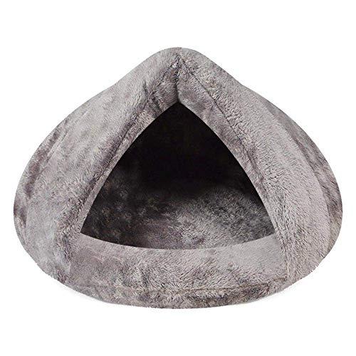 YYhkeby Cat Betten Cat Höhle Häuser Hundehütten Warm Cat Schlafsäcke Pet Betten halbe Abdeckung Winter-Nest Haus-Katzen-Bett for Kleintiere Katzen-Matten-Bett Kennel Haus Jialele