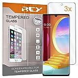 REY Pack 3X Panzerglas Schutzfolie für LG Velvet 5G, Bildschirmschutzfolie 9H+ Festigkeit, Anti-Kratzen, Anti-Öl, Anti-Bläschen