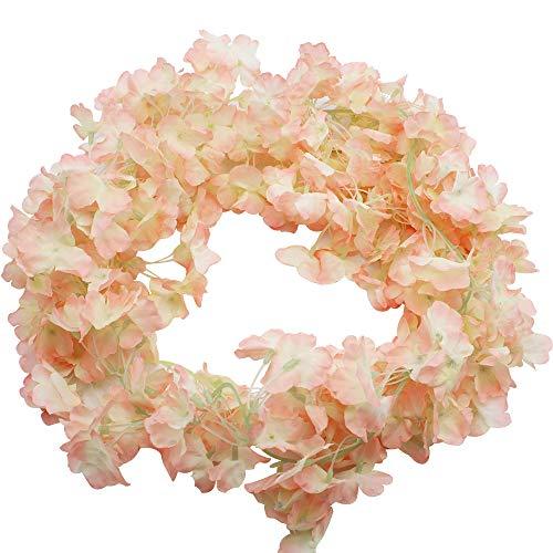 BlueXP 2 Pieza180cm Guirnalda de Flores Artificial Flor Seda Artificiales Colgante Vines Guirnaldas de Hermoso...