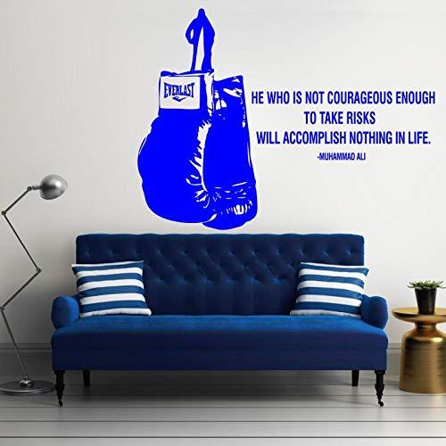 Geiqianjiumai Wie is niet moedig bekend Engels citaat muurstickers home decor art woonkamer decoratie sport sportschool vinyl lijm