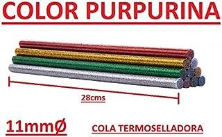 BARRAS DE TERMOSELLADO 10und 11mm Ø DE COLORES BRILLANTES CON PURPURINA PALILLOS COLA PEGAMENTO BRICOLAJE ADHESIVO