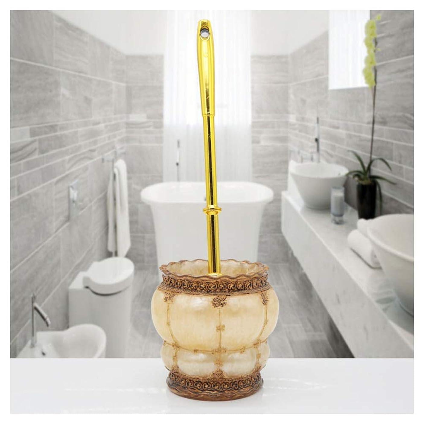 受賞ガロンバラエティYLGROUP トイレブラシホルダートイレブラシ樹脂フリースタンディング用浴室トイレ、高級浴室付属品トイレスクラバーセット -01256 (色 : ゴールド)