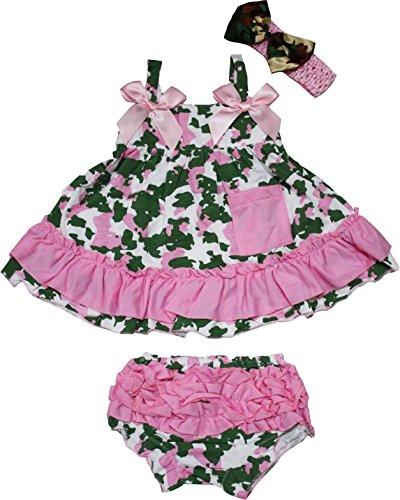 Petitebelle Bébé Rose clair Camouflage Balançoire Top Bloomer Ensemble bébé fille Vêtements Nb-24m 0-12 mois rouge