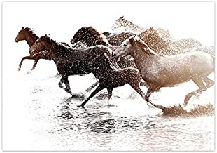 Berglandschap Canvas Schilderij Scandinavische Abstracte Poster Nordic Dansen Paard Muurschilderingen Frameloze Painting50...