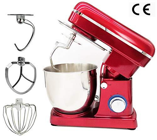 Keukenmachine 1500W Krachtige kneedmachine Mengkom van 5 liter, geruisloze 6-traps deegmachine, vaatwasmachinebestendig herbruikbaar