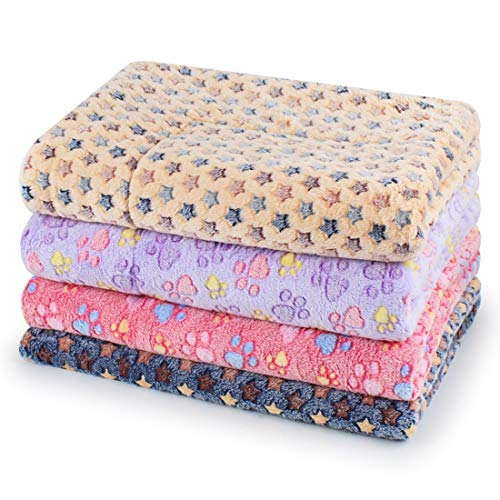 ZhangC Dog Kennel, Printed Pet Mat Dog Kennel Mat Pet Nesting Soft Winter Warm Pet Dog Bed, 3 Different Size Small Dog Cat Sleeping Bag Breathable (Color : Beige Stars, Size : S)