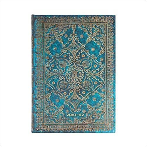 Paperblanks Agende 18 Mesi 2021-2022 Azzurro   Orizzontale   Midi (130 × 180 mm)