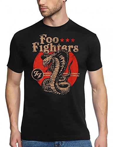 Coole-Fun-T-Shirts FOO FIGHTERS COBRA - T-Shirt black, GR.XL