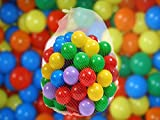 300 x Plastic Balls for Ball Pits Childrens Kids Multi-Coloured Toys Play Pool