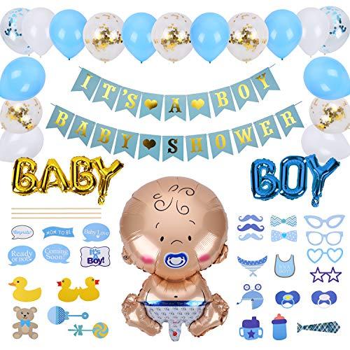 Ulikey Baby Shower Decoración, Baby Shower Globos, Decoraciones Fiesta de Bienvenida de Bebé Niño Bandera It