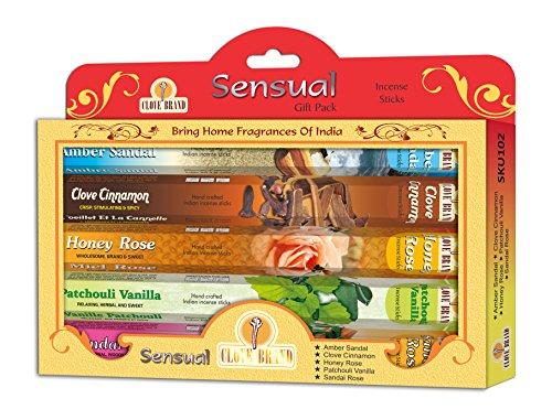 Varillas de incienso regalo pack–Sensual (fragancias de la India)