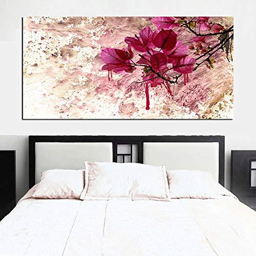 DIY 5D Diamond Painting grande Taladro completo Flor roja abstracta,punto de cruz diamante pintura adultos/niños cuadros diamantes bordado lienzo pared arte Square Drill 40x80cm