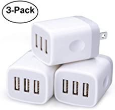 Wall Charger,3 Pack Sicodo 3-Muti Port USB Travel Wall Charger 5V 3.1A Output Portable Wall Charger Plug Power Adapter Compatible with iPhone X/8/7,iPad,Samsung Phones and More