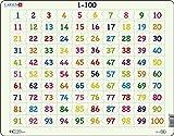 Larsen AR10 Aprende a Contar: Números del 1 al 100, Puzzle de Marco con 100 Piezas