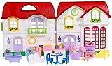 BSD Puppenhaus 8032 Happy Family mit Möbeln und Figuren - Puppenhaus aus Kunstoff mit Ton und Licht...