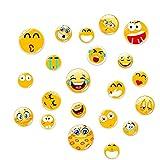 21 Imanes Sonrientes, Emoji Imanes Nevera Imanes De Nevera, Ipequeños Imanes Divertidos para La Cocina, El Hogar, La Escuela, El Aula, La Pizarra, Una Bonita Decoración