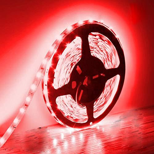 5M Tiras de luz LED, IP20 no impermeables de 12 V, cinta adhesiva Rojo para iluminación para el armario de cocina del hogar