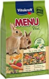 Vitakraft - Menú Premium Vital para Conejos con Cereales, Manzanas y Verduras, Alimento Principal - 3 kg
