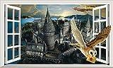 Chicbanners V444 Wandaufkleber, Motiv Harry Potter Hogwarts