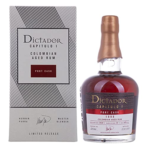 Dictador CAPITULO I 22 Years Old Port Cask Colombian Aged Rum 1998 42% - 700ml in Giftbox