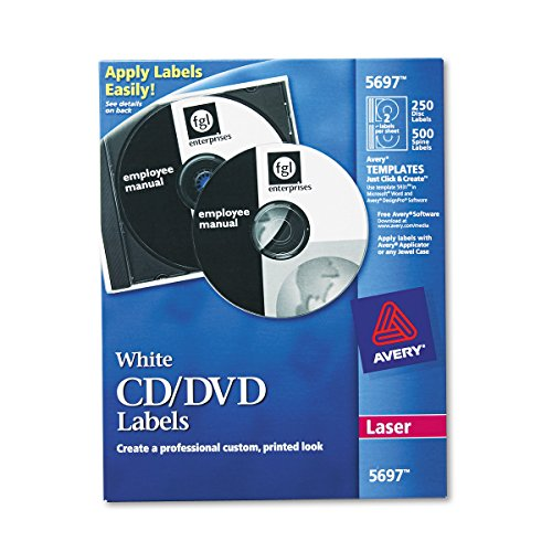 Avery CD-Etiketten–Drucker Etiketten (weiß, Laser, 750PC (S))