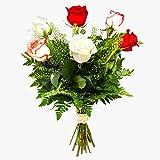 Ramo de 6 rosas flores naturales a domicilio Nueva Orleans - Flores frescas - Envío a domicilio 24h GRATIS - Tarjeta dedicatoria incluida - Caja especial para ramos de flores naturales