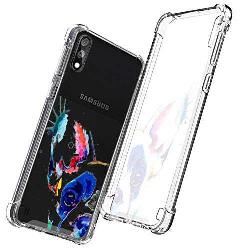 OOK Crystal Clear Case for Samsung Galaxy A01 French Bulldog Slim Fit Heavy Duty Protection Thin Case Soft Flexible TPU with Hard PC Cover for Samsung Galaxy A01